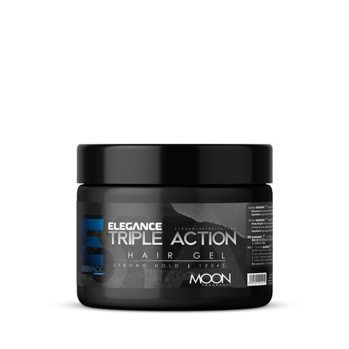 Elegance Triple Action Strong Hold Hair Gel (Silver)