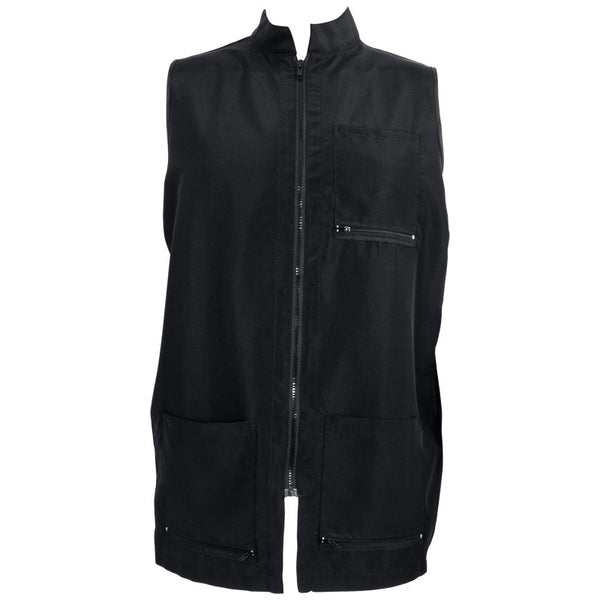 Vincent China Collar Barber Vest (Black)