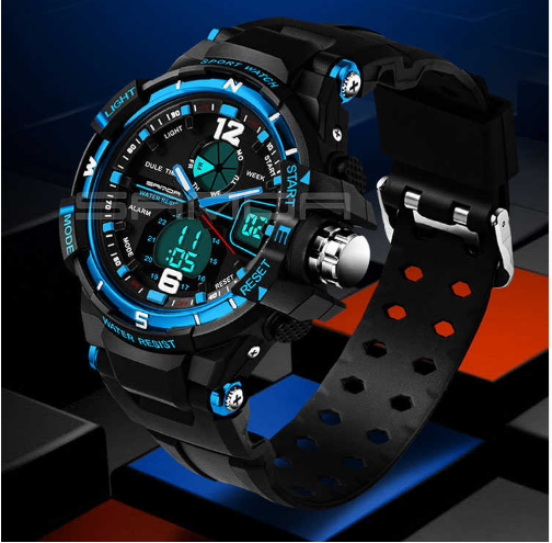 SANDA resistant sports watch for man to blows