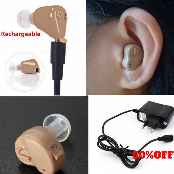 Mini Rechargeable Headphone For Hearing Loss. 50% OFF  FREE SHIPPING