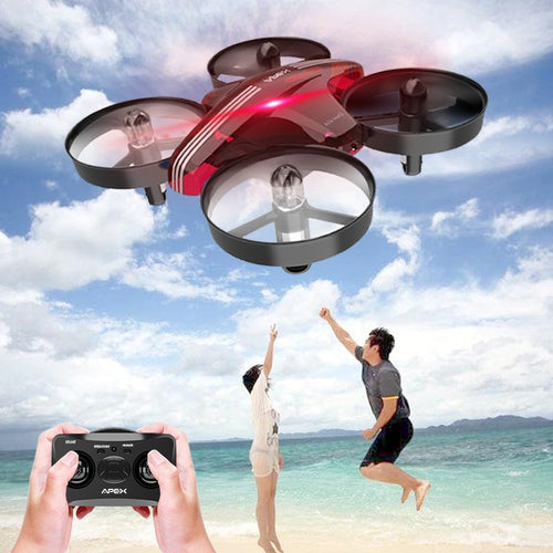 APEX Headless Mode Mini Drone with 2.4g RC RC Quadcopter RC Aircraft Toy for Children