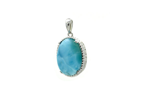 Beautiful Larimar pendant in silver 16x12mm Handmade directly from creative people from all over the world  Buy it now 30% off