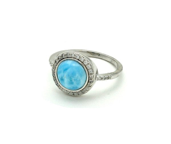Larimar passion ring Sterling Silver Free shipping.