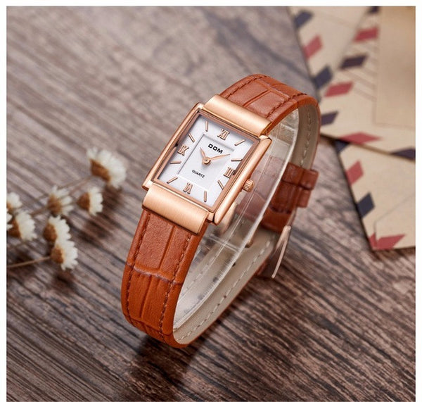 DOM brand luxury men & women dress vintage casual quartz watch silm Ultra-thin retro leather watches 2017 clock wristwatches