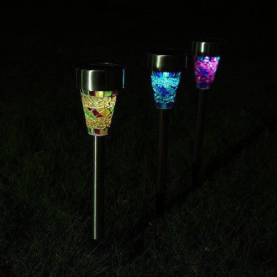 4pcs/Lot High Quality Solar Power LED Garden Light Solar Energy Outdoor Lamp For Lawn Outdoor LED Solar Garden Waterproof Light