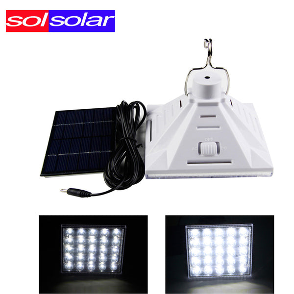 SOLSOLAR 2017 New 25pcs 3528  Portable Solar Powered Led Lighting System, Work Time 7 Hours Solar Rechargeable Energy Bulb