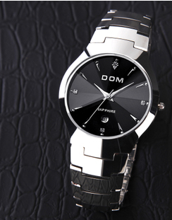 Dom - Indestructible watch 38 mm tungsten carbide. Whoa!!  Free Shipping 66% discount for a limited time or up to a lifetime