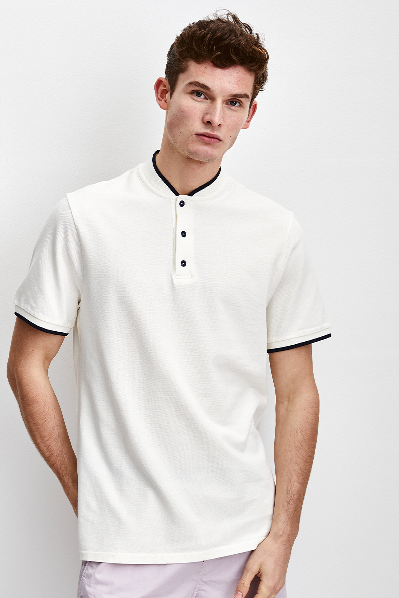 BOMBER COLLAR POLO