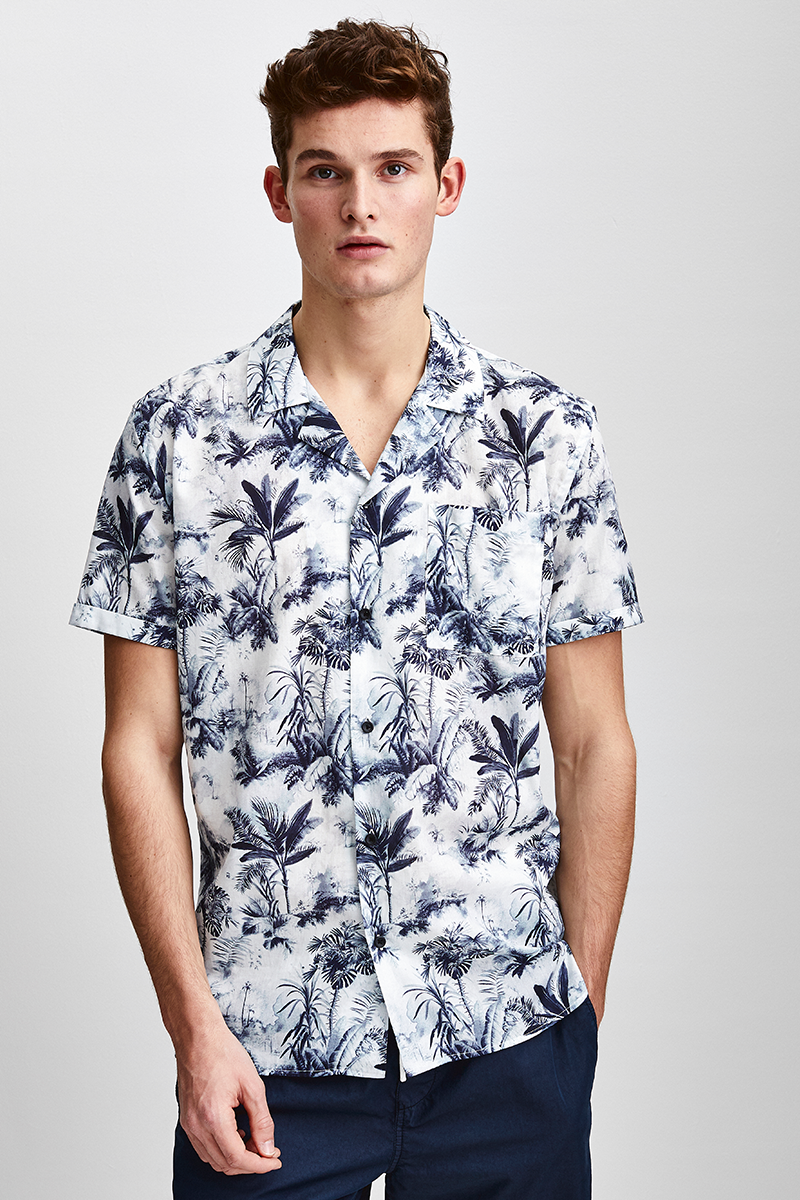 SHORT SLEEVED SHIRT WITH PRINT