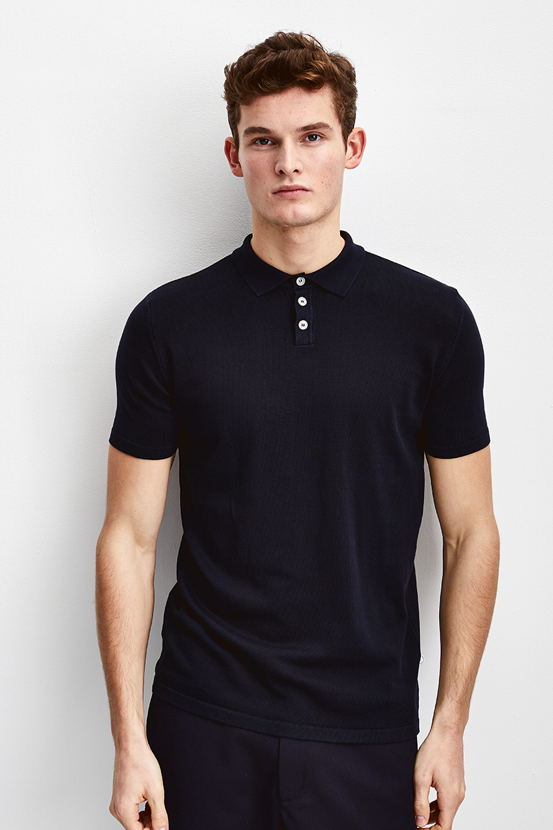 Slim Fit Knitted Polo