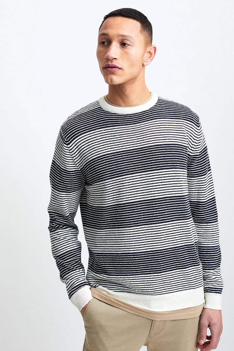 Striped Boucle Knit