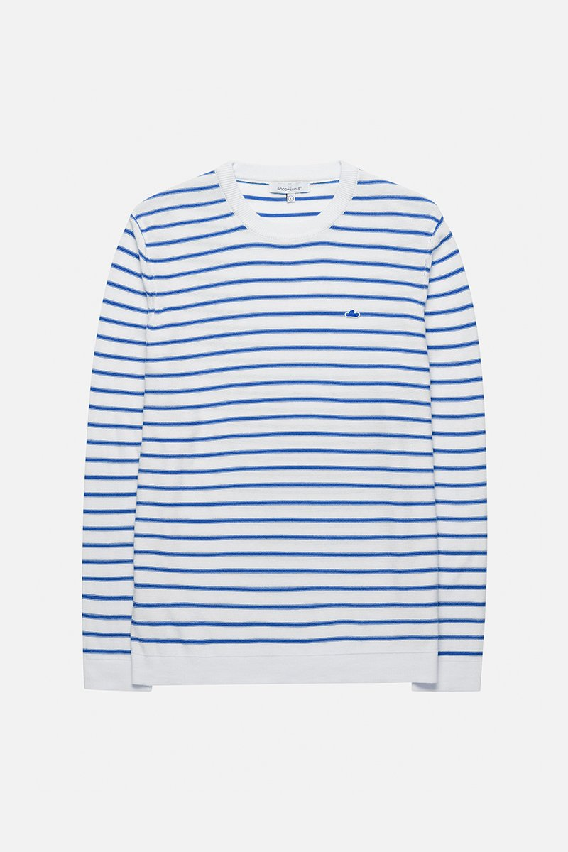 Striped Logo Knit