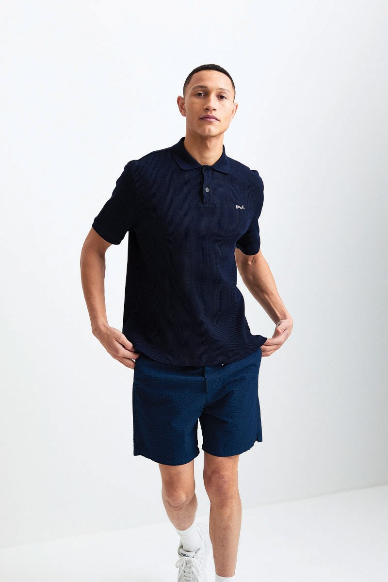 Polo in structure fabric