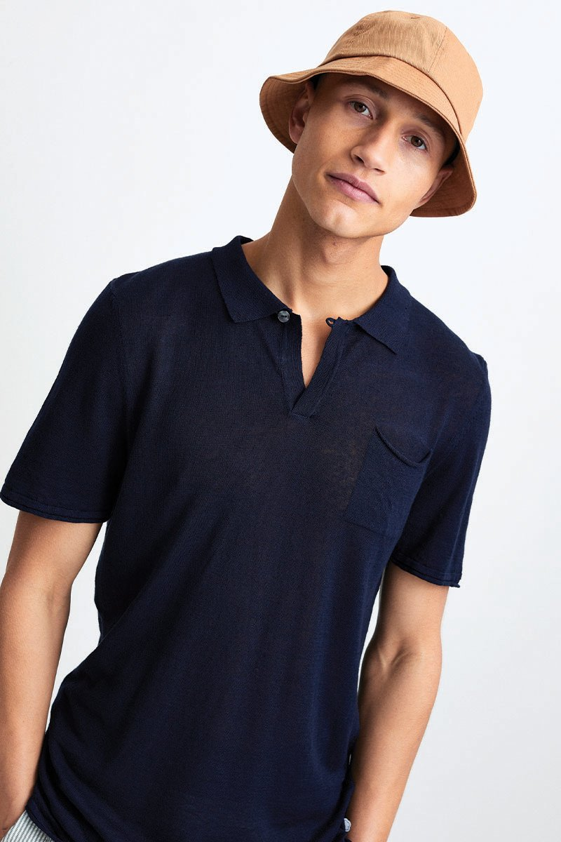 Linen Knitted Polo