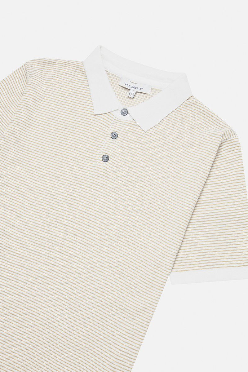 Striped Yarn Polo