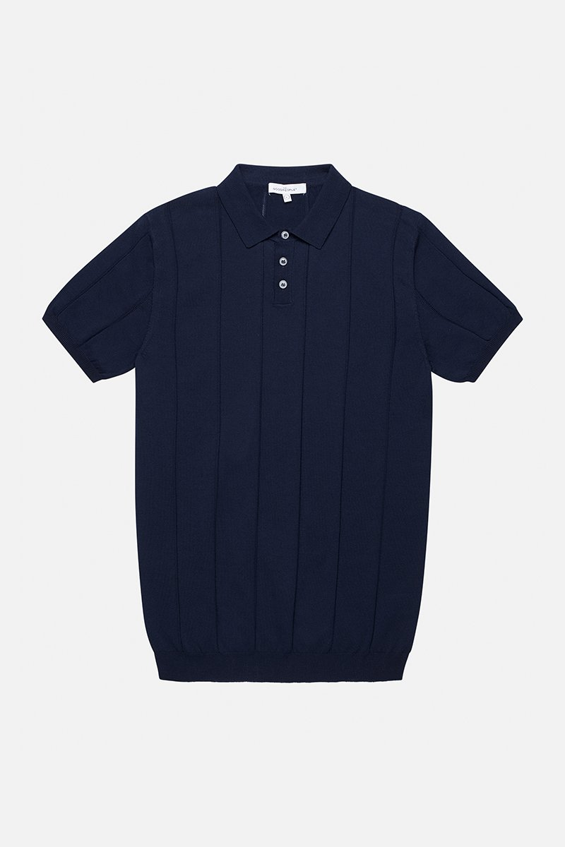 Jacquard Striped Polo