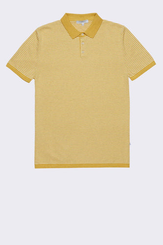 MELANGE YARN POLO