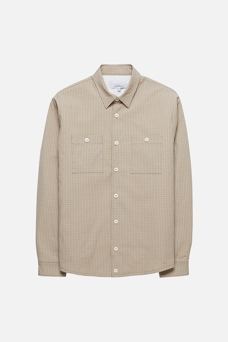 Check Fabric Overshirt