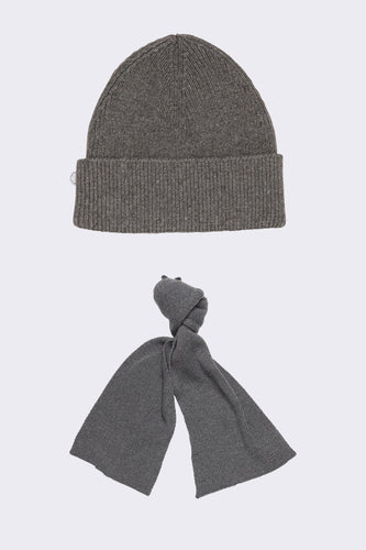 CASHMERE BLEND BEANIE AND SCARF