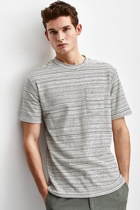 SOFT LINEN STRIPED TEE