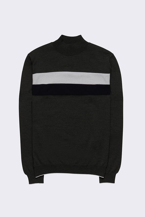 Turtleneck collor block knitwear