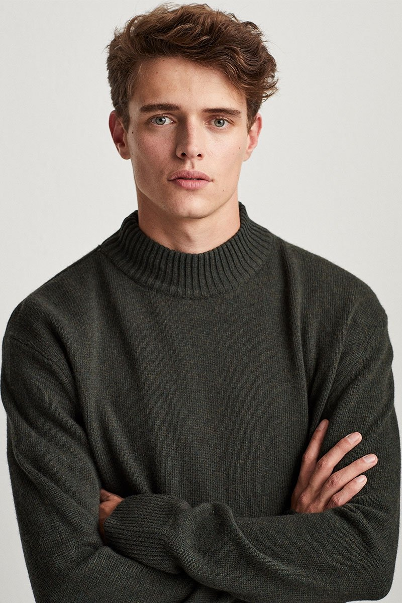 Turtleneck merino knitwear