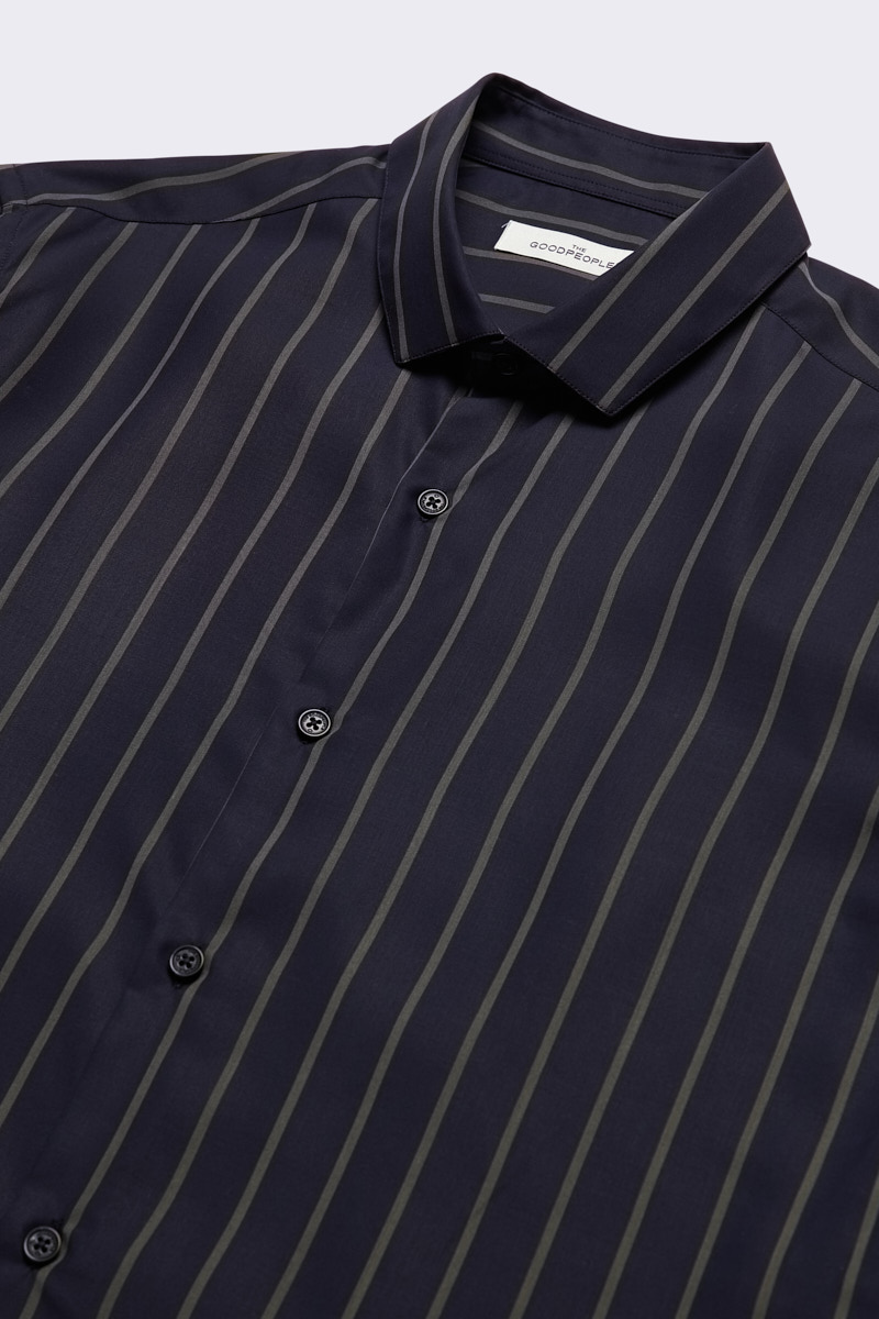 Striped tencel shirt