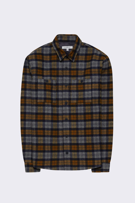 Half lined wool overshirt
