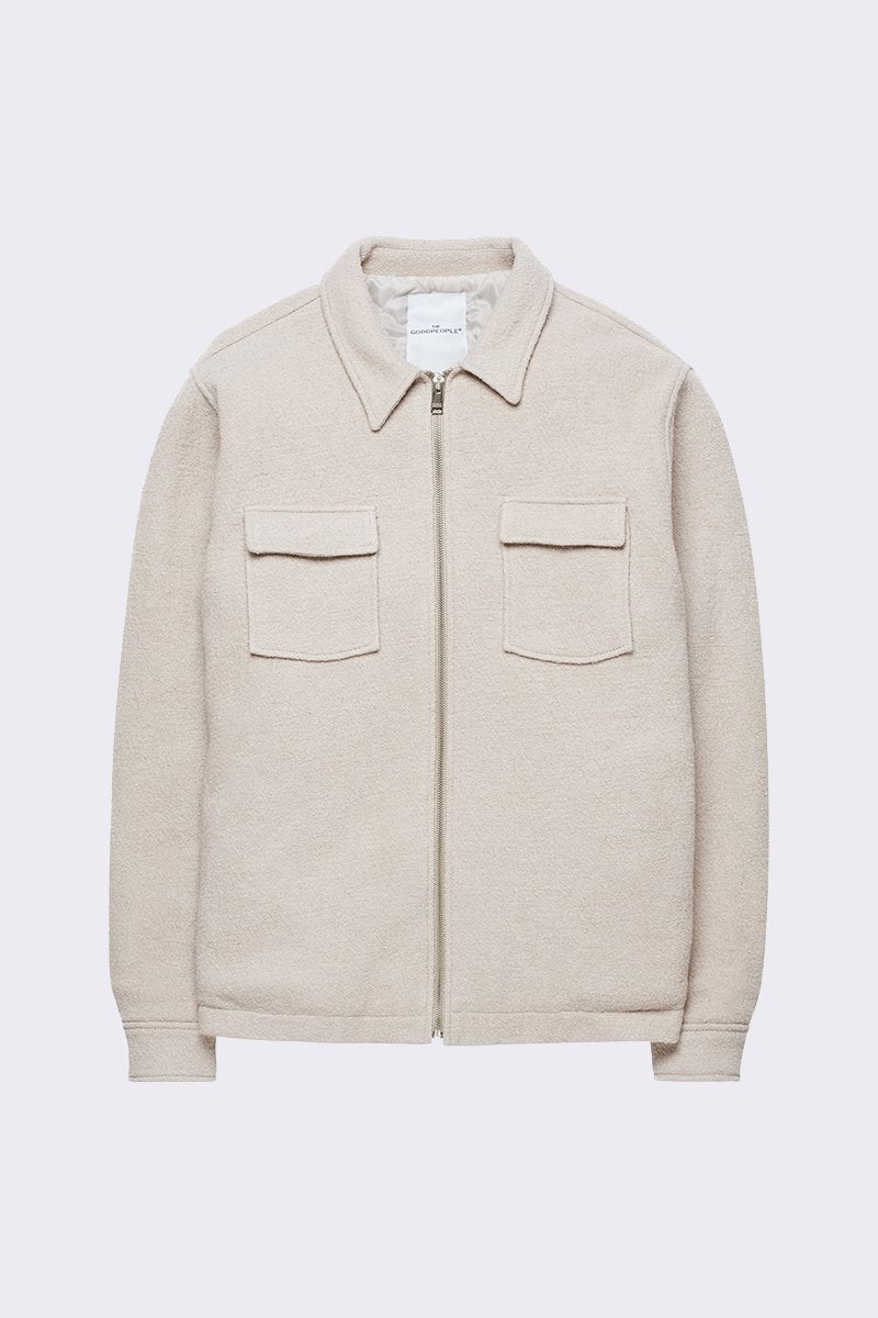 Wool zipped shirt Jacket