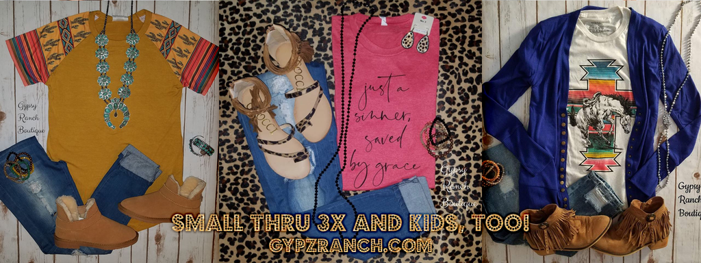 Gypsy Ranch Boutique Apparel Sizes Small 3x Exciting Accessories