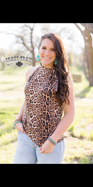 Steel Magnolia Leopard Tie Top - Also in Plus Size