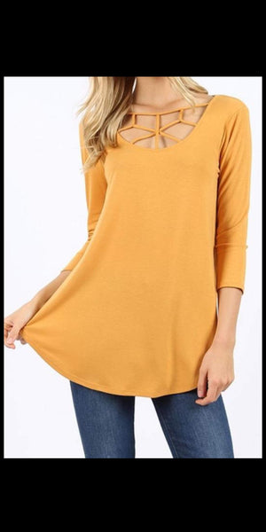 Special Effort Criss Cross Top - Also in Plus Size