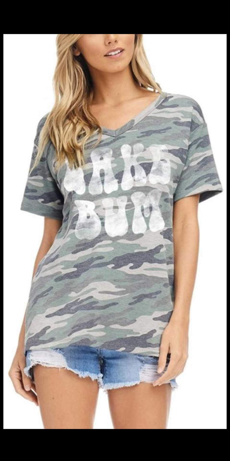 Camo Lake Bum Top