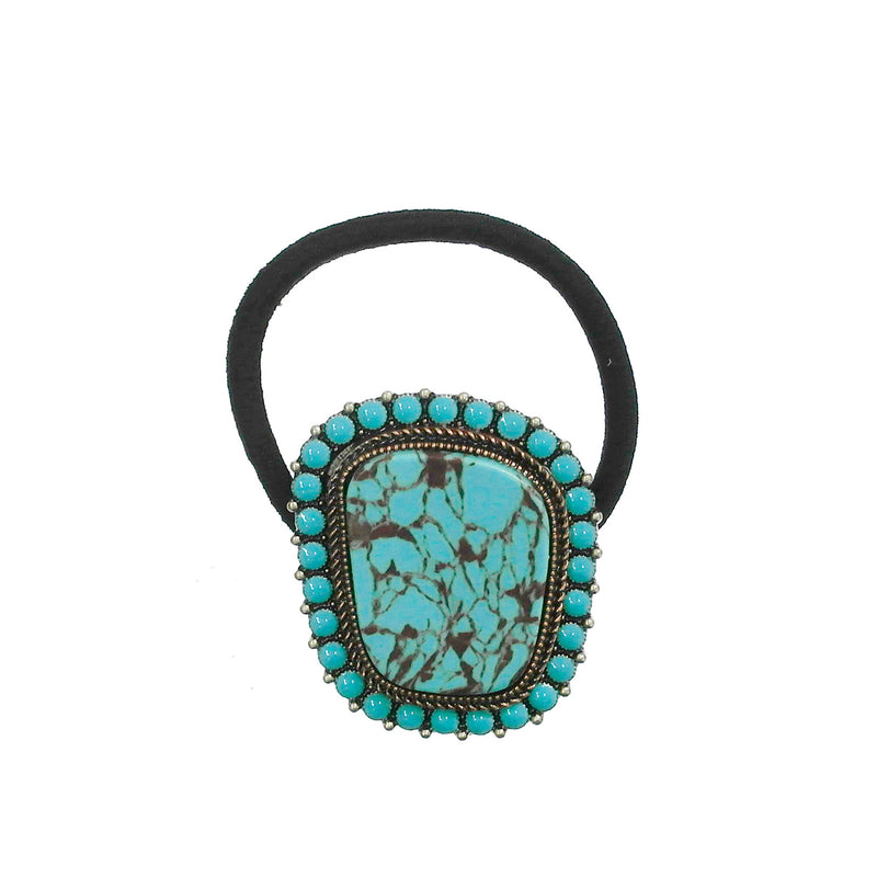 Tessa Turquoise Ponytail Holder
