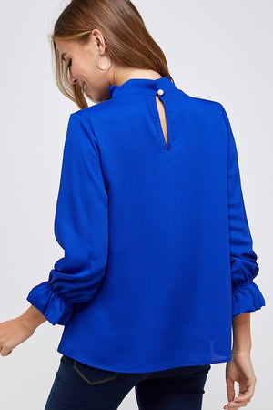 Red River High Neck Royal Blue Top