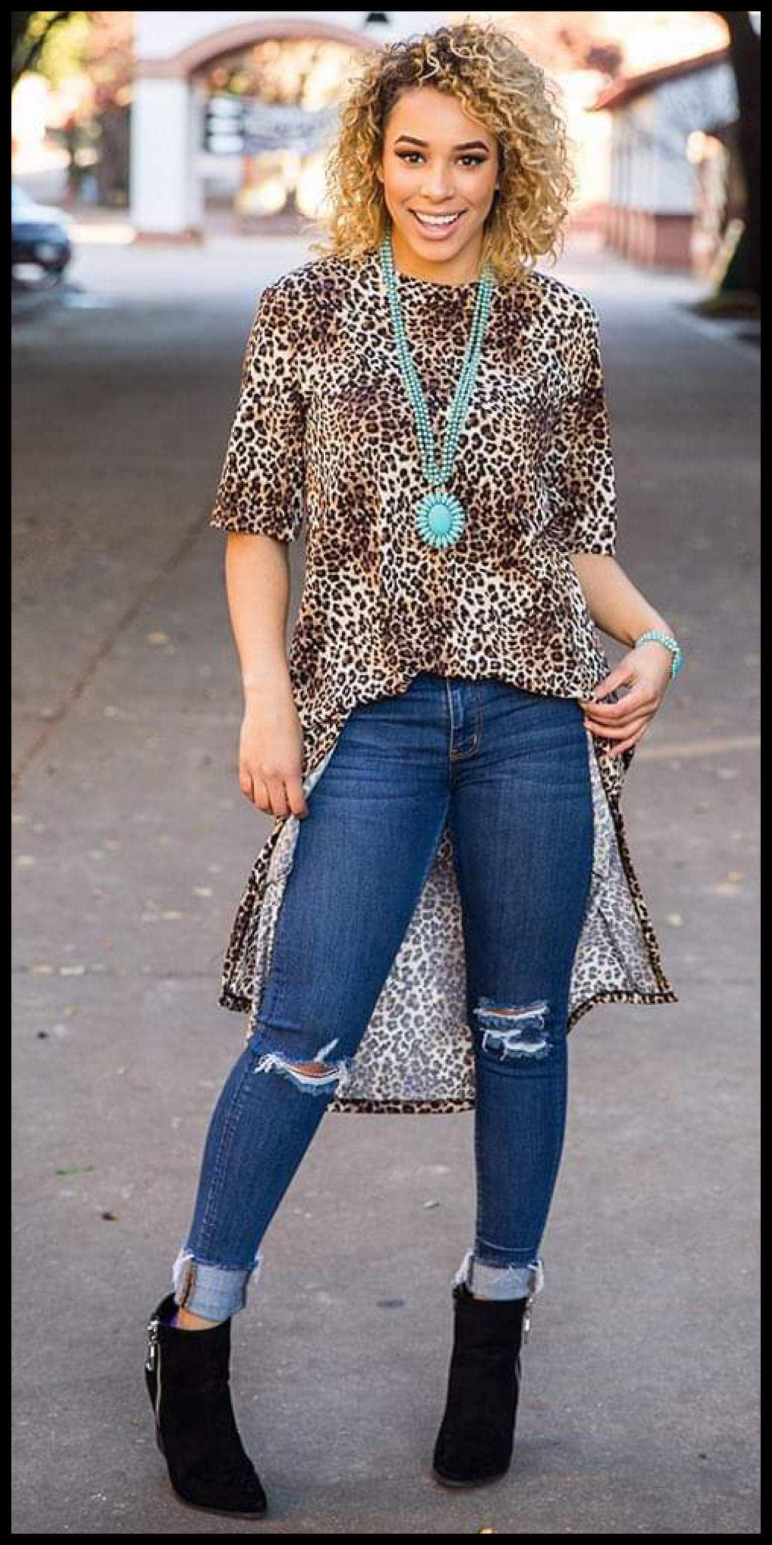 Willow Leopard Hi Lo Top - Also in Plus Size