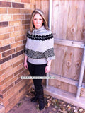 Timber Creek Chevron Sweater-Black