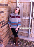 Timber Creek Chevron Sweater -Mocha