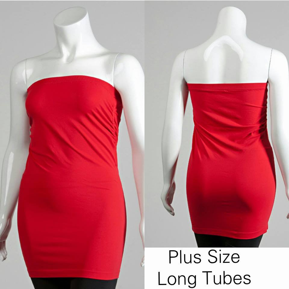 Plus Size Long Tube Top