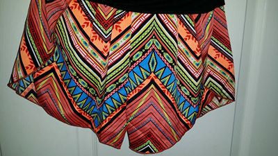 Desert Diamond Orange Chevron Shorts