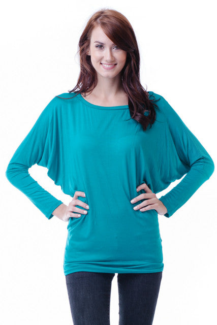Las Cruces Dolman Sleeve Tunic- Plus Size