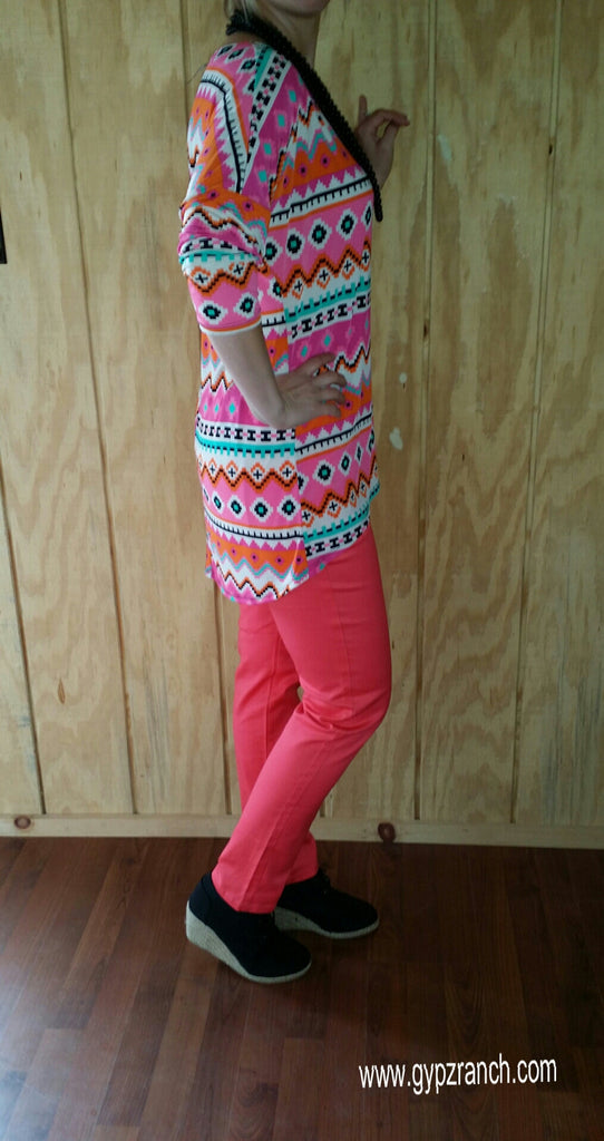 Dreamsicle Bright Coral Skinnies - Plus Size