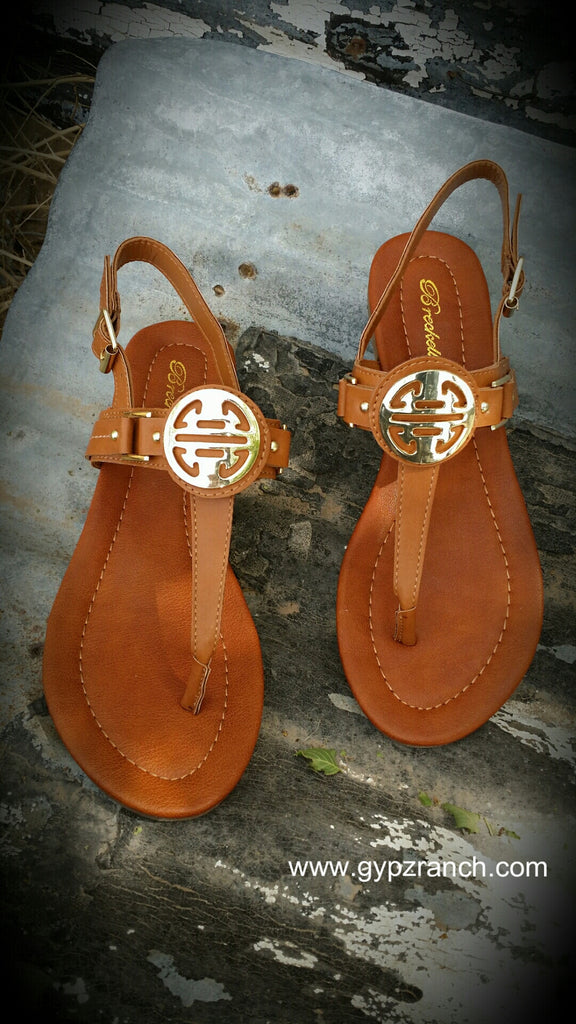 Brecklyn Tan Gladiator Sandals
