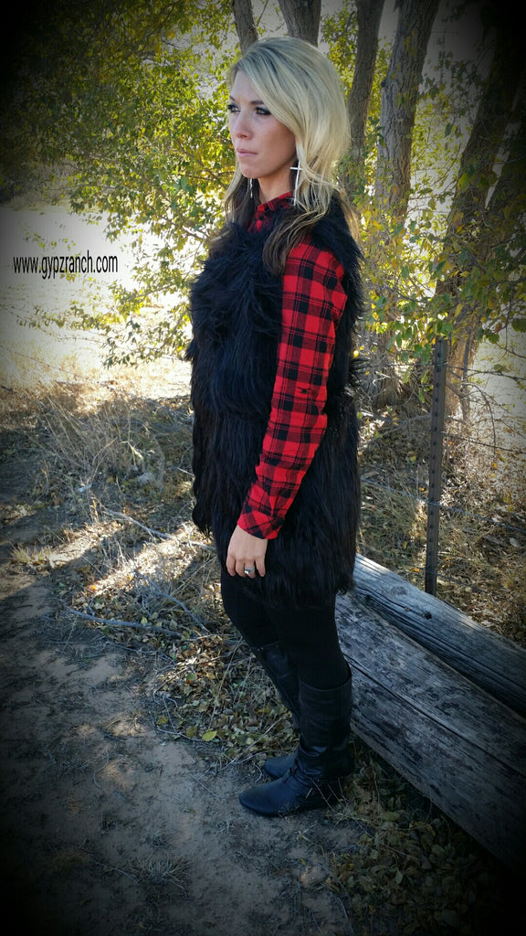 Bound for Holiday Plaid Tunic Dress