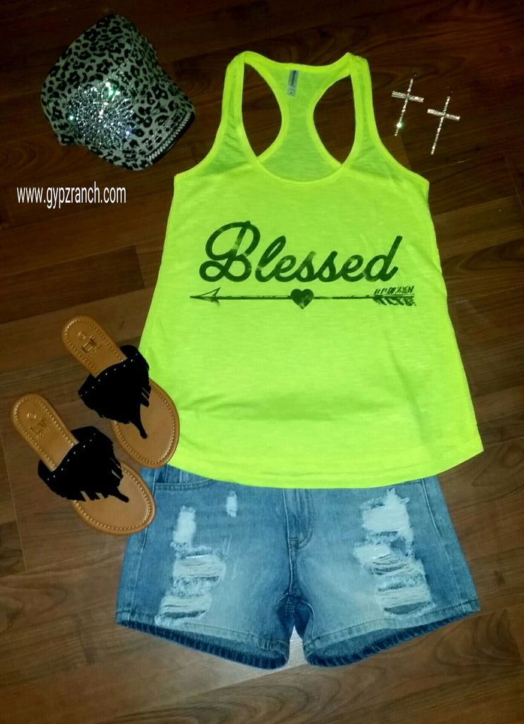 Neon Blessed Tank Top