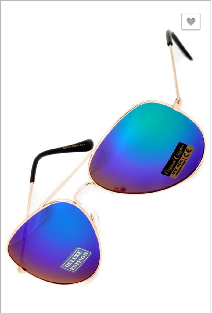 Aviator Sunglasses - 4 color options
