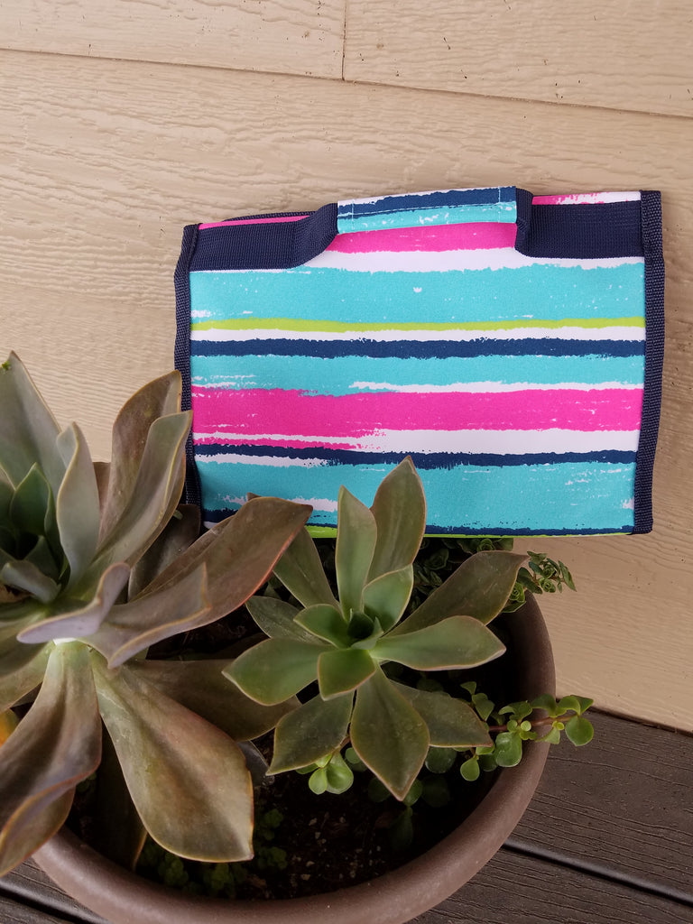 Lowery Serape Stripe Fold Up Make Up Hanging Bag