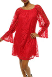 Vintage Holiday Lace Dress- Red or Black