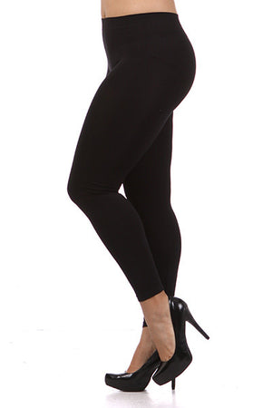 Winter Park Fleece Plus Size Leggings-Several Colors
