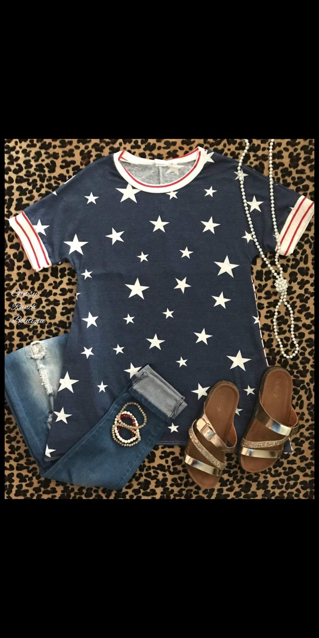 Brave & Beautiful Stars & Stripes Top - Also in Plus Size